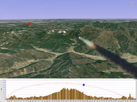 유도탄 비행훈련 시뮬레이션